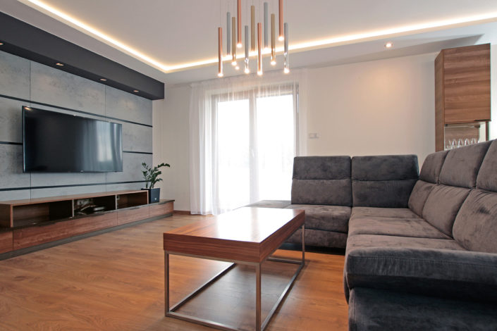 nowoczesny projekt salonu